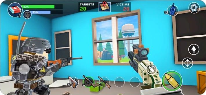 Pixels unbekanntes Battle Ground-Spiel wie PUBG für iPhone und iPad