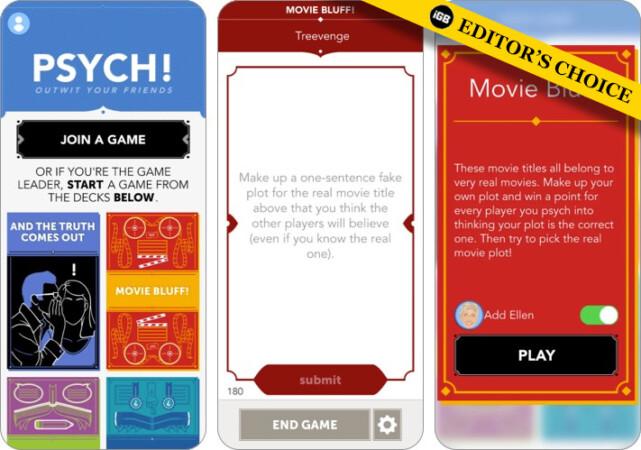 Psych FaceTime game screenshot