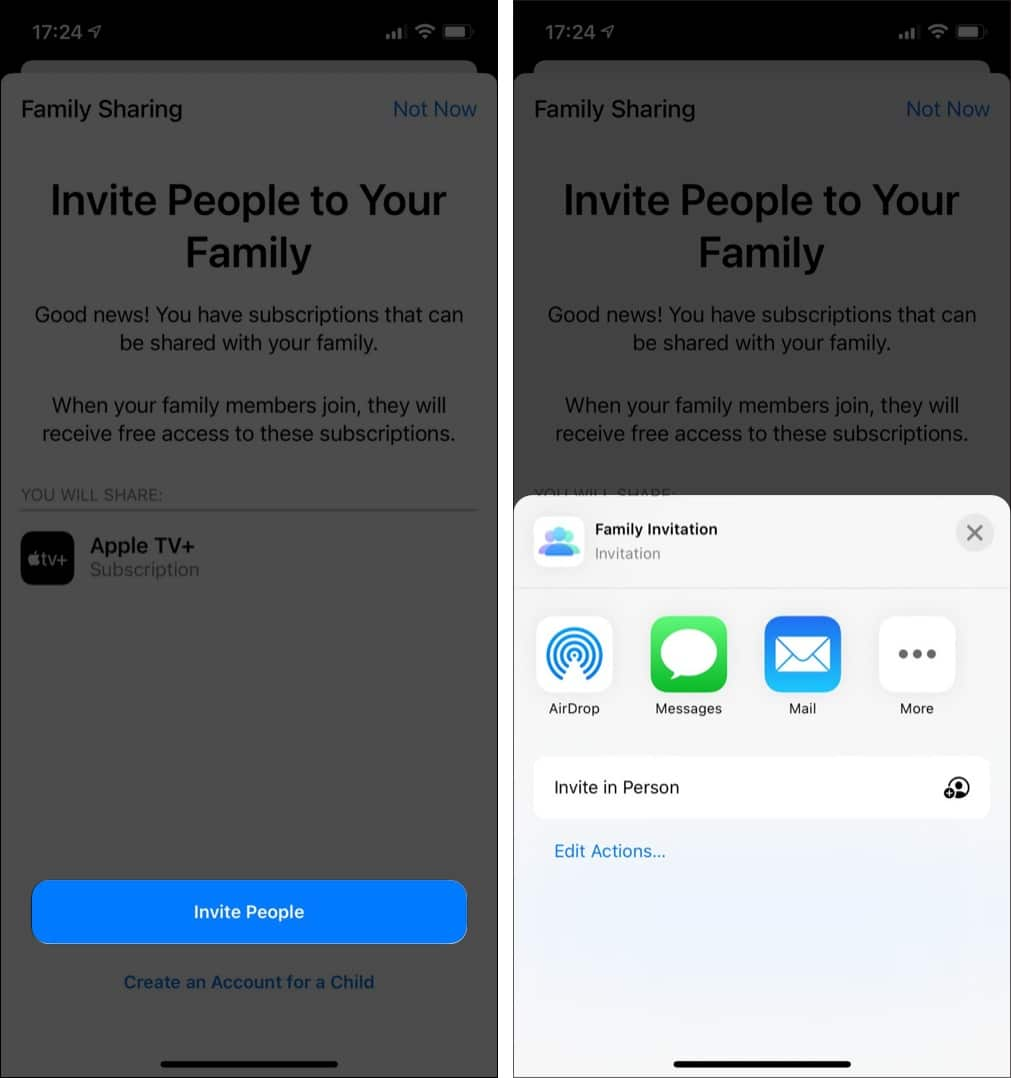 Set up Family Sharing on iPhone to share Apple books