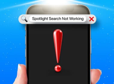 Spotlight search not working on iPhone