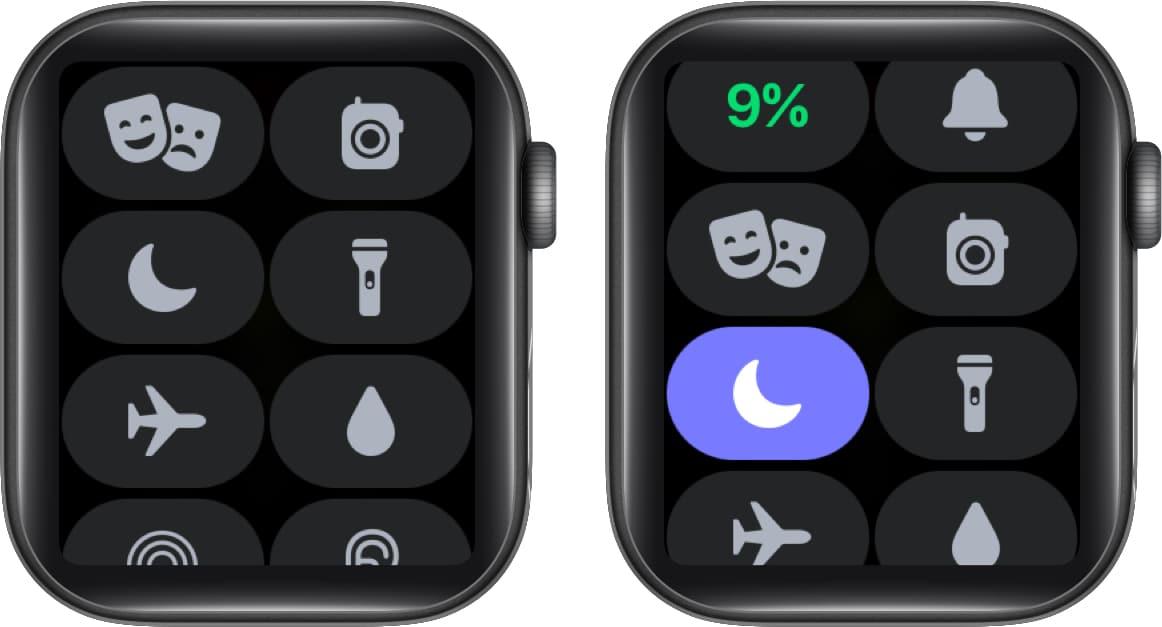 Turn on Do Not Disturb on Apple Watch