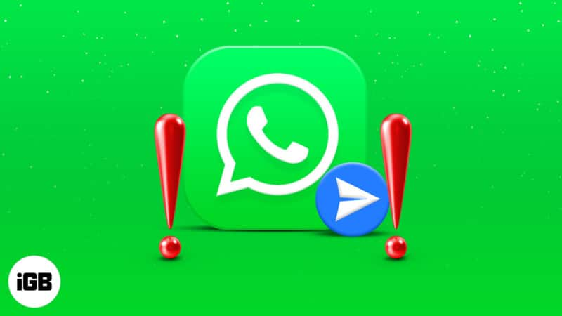 WhatsApp not showing 'send option' on iPhone