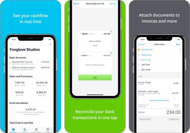 Xero Accounting invoice iPhone and iPad App