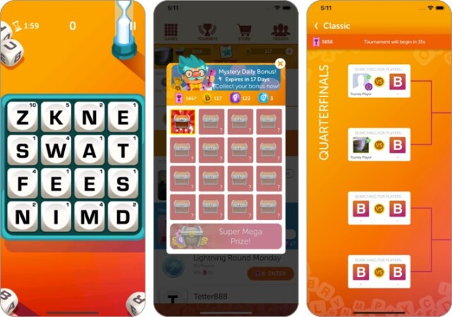 boggle with friends iphone game screenshot
