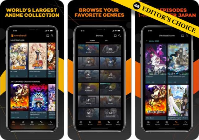 Crunchyroll Anime Streaming App Screenshot