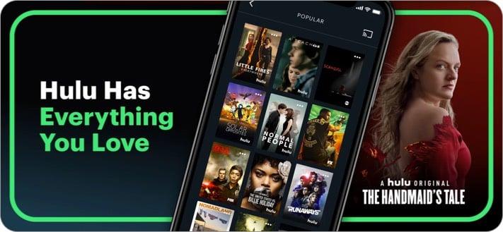 Hulu Anime Streaming App Screenshot