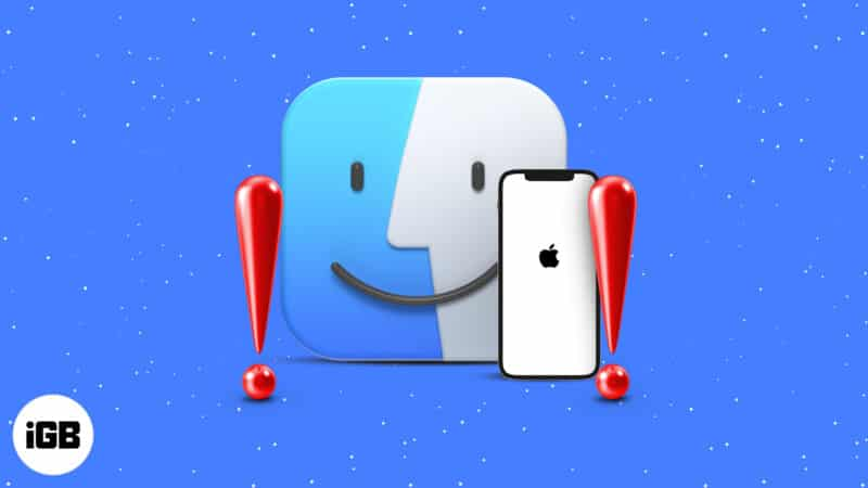 iPhone not showing up in Finder on Mac
