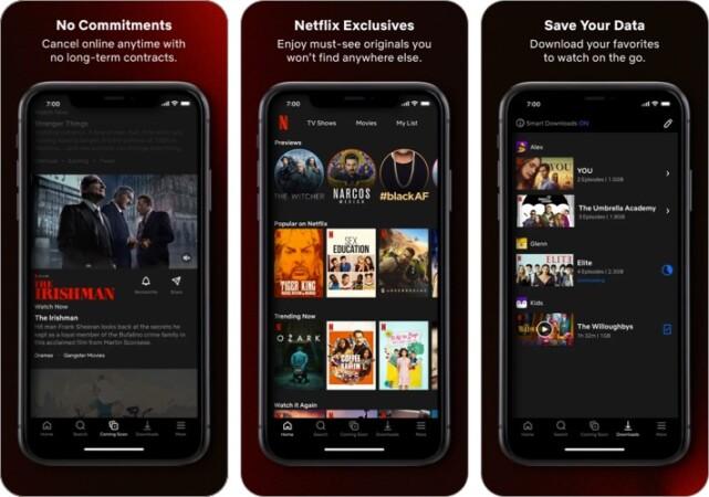 Screenshot der Netflix-Anime-Streaming-App