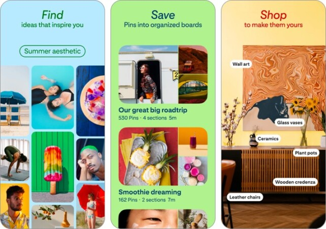 pinterest iphone ipad app screenshot