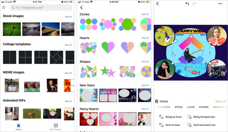 piZap best collage making app for kids and beginners