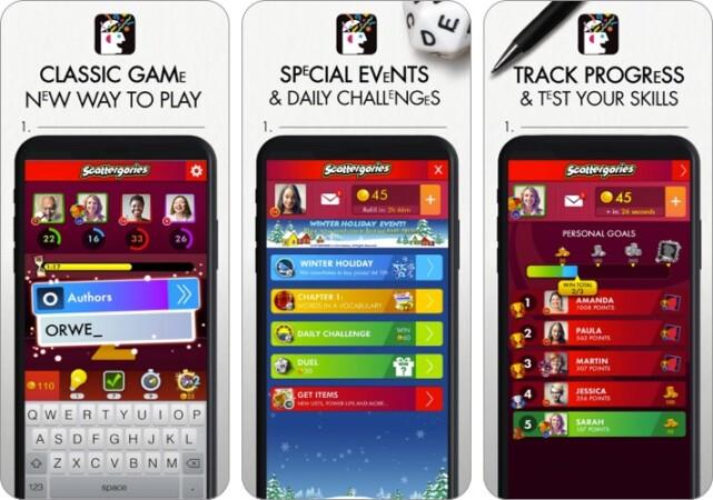 scattergories iPhone iPad game screenshot