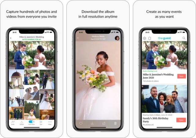 the guest wedding photos iphone app screenshot