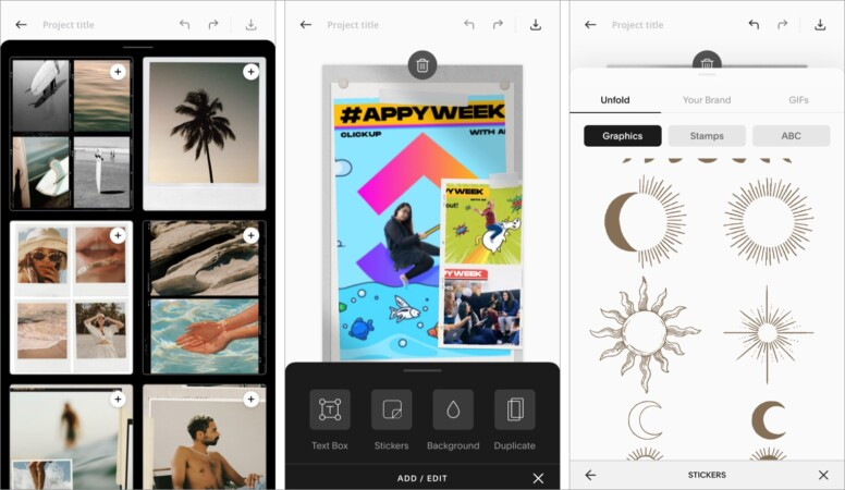 Unfold: Story & Collage Maker for iPhone