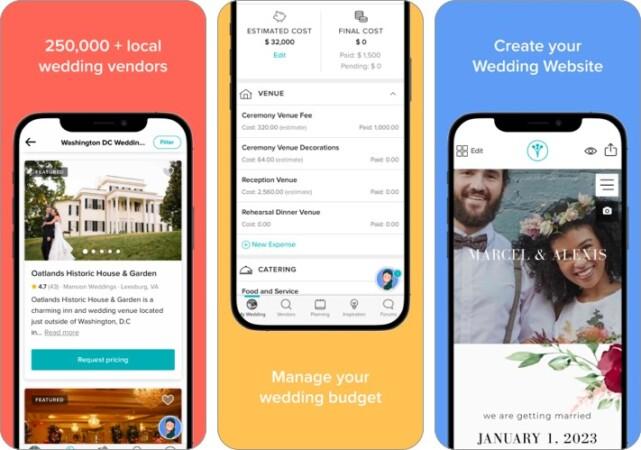 weddingwire wedding planner iphone ipad app screenshot