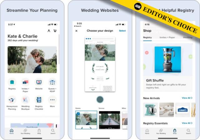 zola wedding planner iphone app screenshot