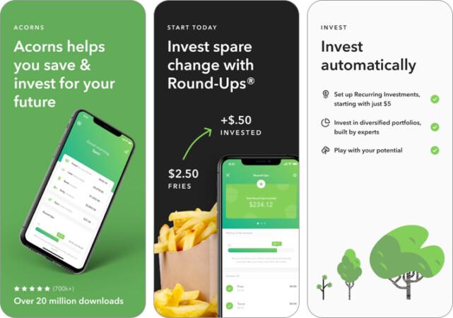 Acorns- Save & Invest iPhone and iPad App