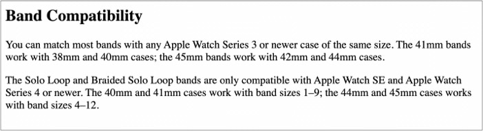 Apple Watch Bands Compatibility