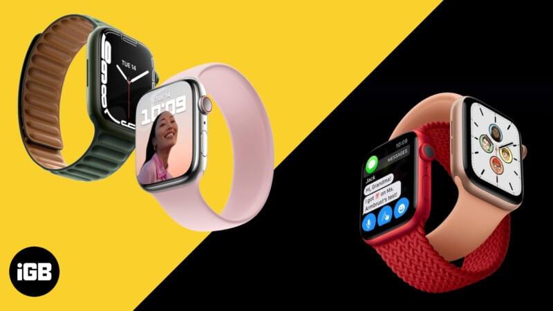 Apple Watch Series 7 vs. Apple Watch Series 6