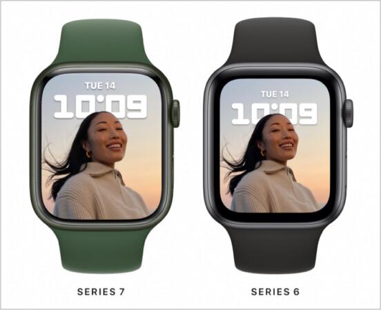 Apple Watch Series 7 vs. Apple Watch Series 6 Display