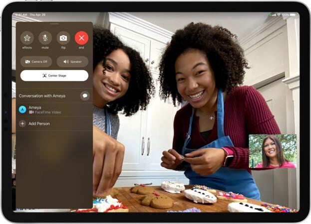 Mittelpunkt im iPad der 9. Generation