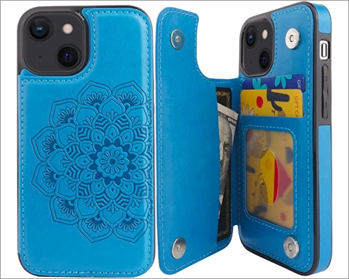 Compernee for iPhone 13 Mini Wallet Case with Card Holder