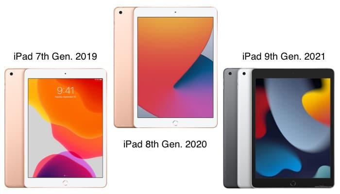 Designvergleich des neuen iPad (9. Gen.)
