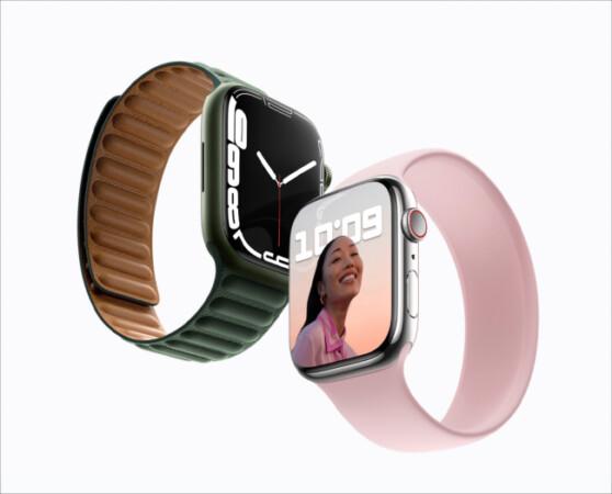 Design of Apple Watch Series 7 vs. Apple Watch Series 6