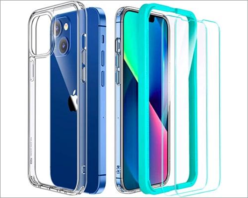 ESR Hybrid Case Compatible with iPhone 13 Mini clear case