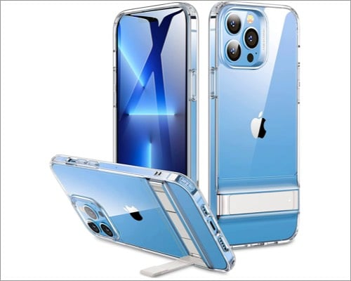 ESR iPhone 13 Pro Max Clear Case with Kickstand