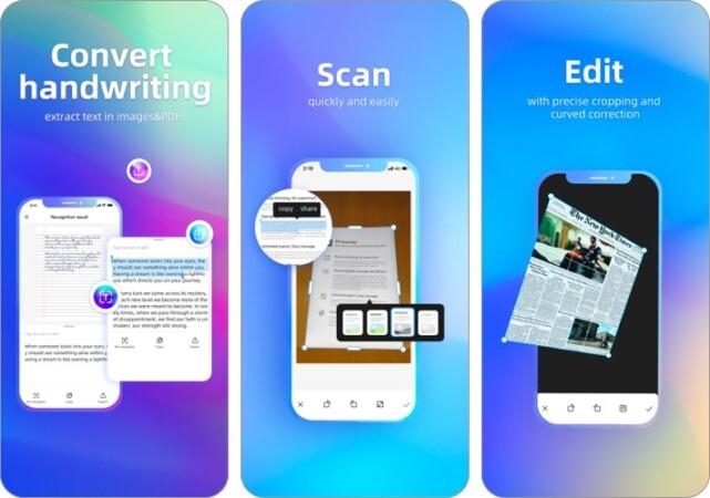 FP Scanner document scanner app for iPhone