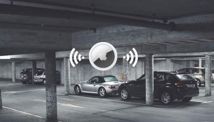 Find a car parking spot with AirTag