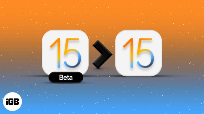 How to remove iOS 15 beta and install the official version