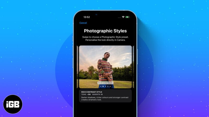 How to use Photographic Styles on iPhone 13