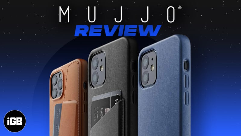 Mujjo leather cases for iPhone 13 series