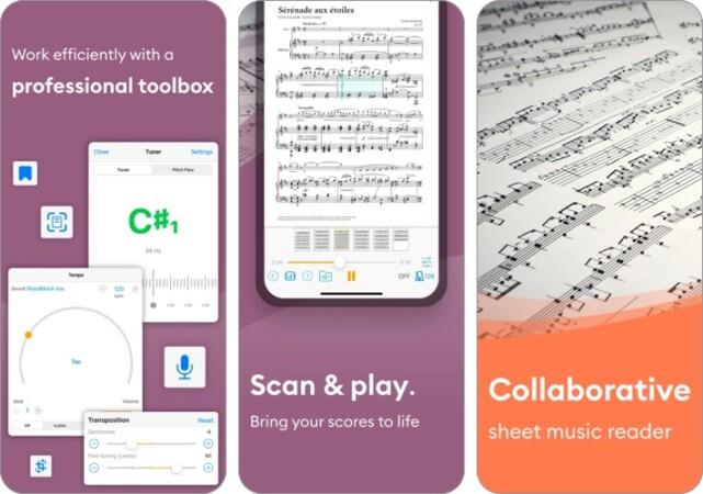 Newzik iPhone and iPad app screenshot