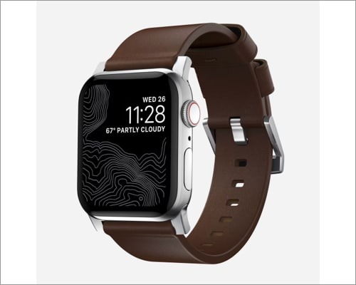 Nomad modern leather band for Apple Watch