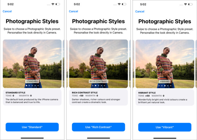 Photographic Styles on iPhone 13