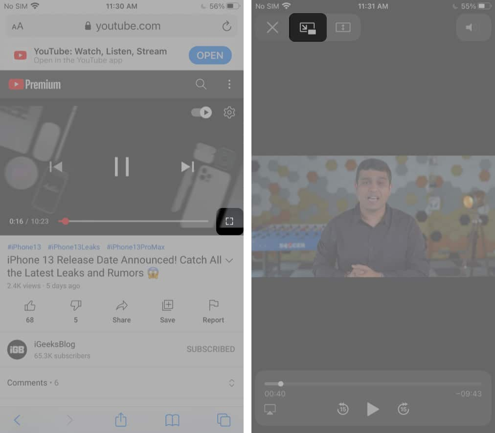 Play YouTube in the background using web browsers on iPhone