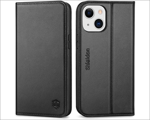 SHIELDON Folio Wallet Case for iPhone 13 mini