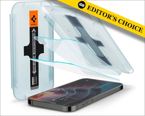 Spigen tempered glass screen protector for iPhone 13 Pro Max