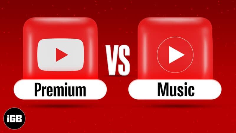 YouTube Premium vs YouTube Music Premium