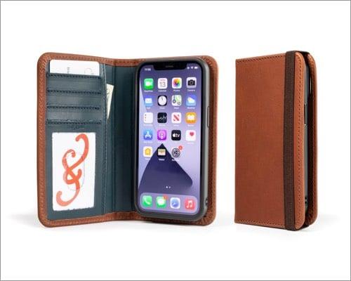 pad&quill iphone 13 folio case