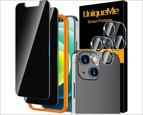 uniqueme iphone 13 mini privacy screen protector