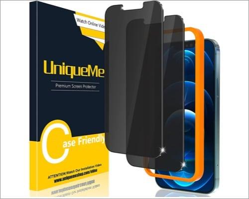 uniqueme iphone 13 pro max privacy screen protector