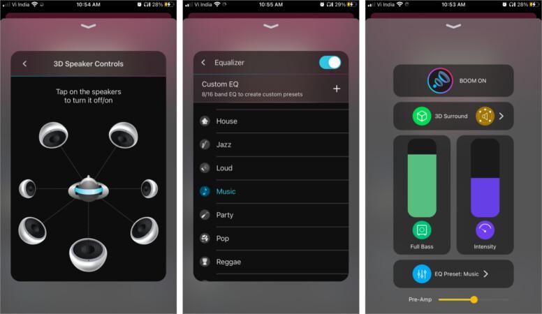 3D Surround Sound in Boom iPhone app