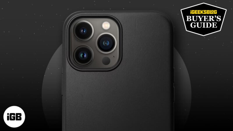 Best iPhone 13 Pro Max leather cases