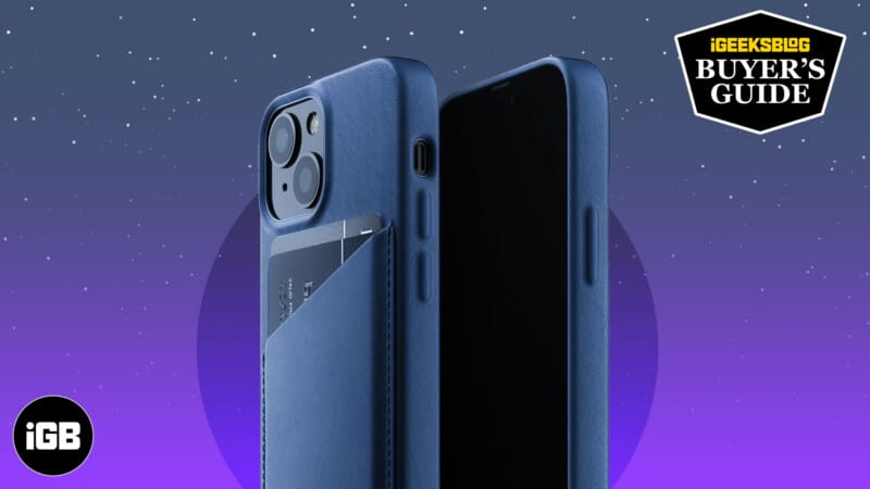 Best leather cases for iPhone 13 mini