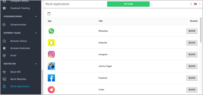 Block Applications on iPhone using mSpy Mac Software