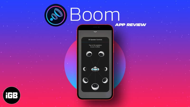 Boom iPhone app for Music and Podcast review