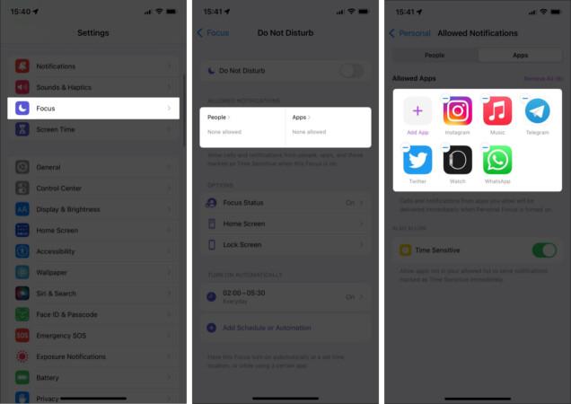 Suchen Sie nach Apps und Kontakten auf der Whitelist auf dem iPhone